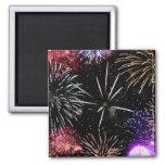Fireworks Grande Finale 2 Inch Square Magnet