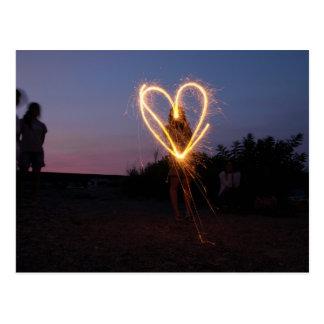 Fireworks Graphiti Post Card