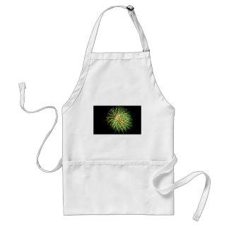 Fireworks - Green on Black Adult Apron