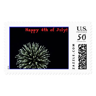 Fireworks, Happy 4th of July!! Postage