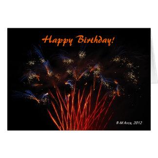 Fireworks Happy Birthday Card