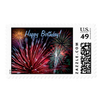 Fireworks, Happy Birthday! Postage