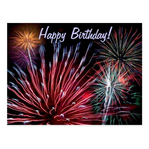 Fireworks, Happy Birthday! Post Cards