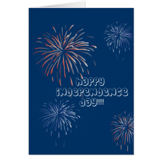 Fireworks Happy Independence Day Card