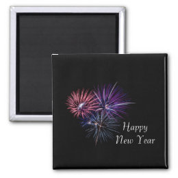 Fireworks Happy New year Magnet