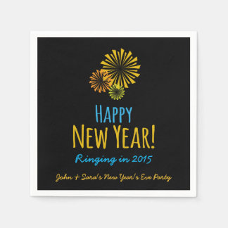 Fireworks, Happy New Year, Party Napkin