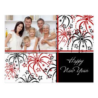 Fireworks Happy New Year Photo Postcards