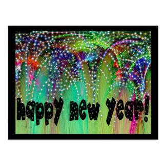 FIREWORKS ~ HAPPY NEW YEAR! POSTCARD