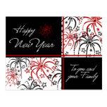 Fireworks Happy New Year Postcards