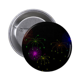 Fireworks Hapy New Year Button