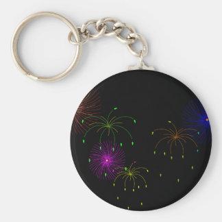 Fireworks Hapy New Year Keychain