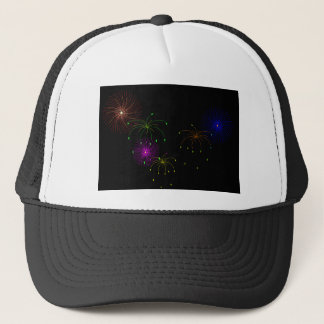 Fireworks Hapy New Year Trucker Hat