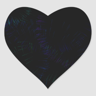 FIREWORKS HEART STICKER