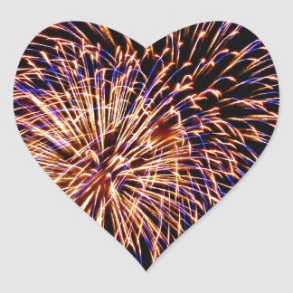 Fireworks Heart Sticker