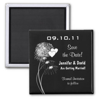 Fireworks & Hearts Save the Date Magnet