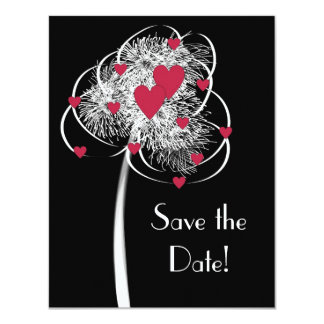 Fireworks & Hearts Tree Save the Date Announcement