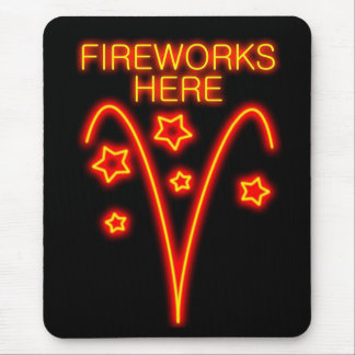 FIREWORKS HERE MOUSE PAD