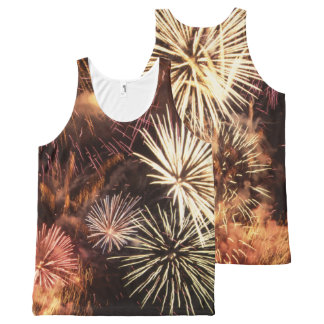 Fireworks image for All-Over-Printed-Unisex-Vest All-Over Print Tank Top