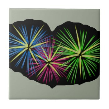 Fireworks Image On Items Ceramic Tile by CREATIVEBRANDING at Zazzle