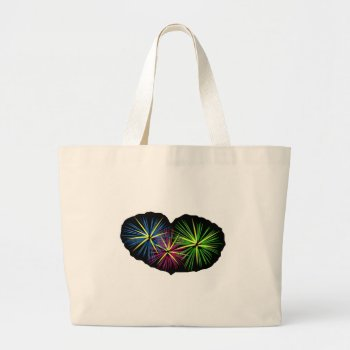 Fireworks Image On Items Large Tote Bag by CREATIVEBRANDING at Zazzle