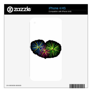 FIREWORKS IMAGE ON ITEMS SKINS FOR THE iPhone 4