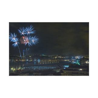 Fireworks Impresiones En Lienzo Estiradas
