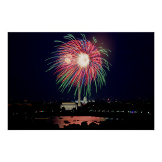 Fireworks in DC Poster