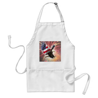 fireworks in flight adult apron