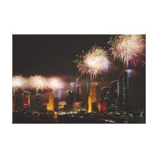Fireworks in Houston Texas Canvas Print