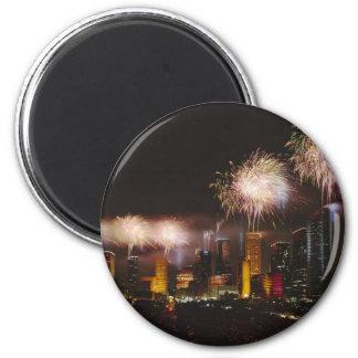 Fireworks in Houston Texas Fridge Magnets