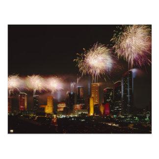Fireworks in Houston Texas Postcard