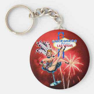 Fireworks in Las Vegas 4th of July Keychain