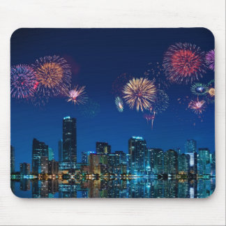 Fireworks in Miami Mouse Pad