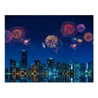 Fireworks in Miami - Postcard