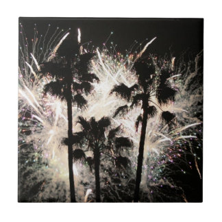 fireworks in palm trees.jpg small square tile