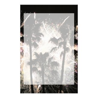fireworks in palm trees.jpg stationery paper