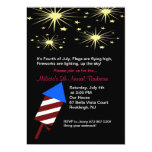 "Fireworks in Sky Fourth of July Party Invitation 5"" X 7"" Invitation Card"