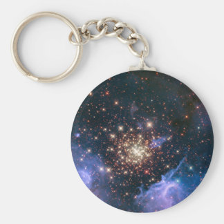 Fireworks in Space Keychain