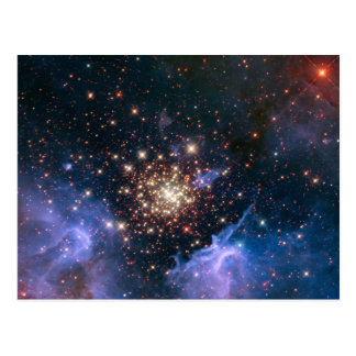 Fireworks in Space Postcard