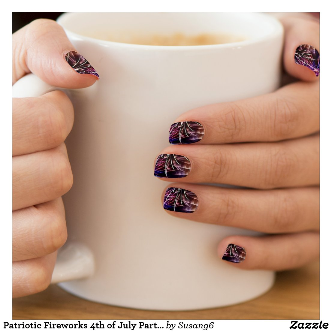 Fireworks in the Nights Sky Minx Nail Wrap