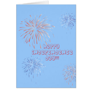 Fireworks Independence Day Card