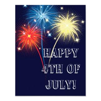 Fireworks 4.25x5.5 Paper Invitation Card