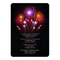 Fireworks Invitation
