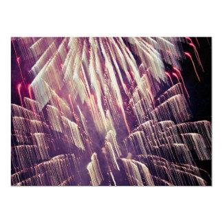 """Fireworks 6.5"""" X 8.75"""" Invitation Card"""