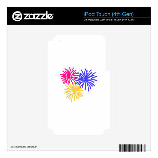 Fireworks iPod Touch 4G Skin