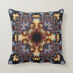 Fireworks Kaleidoscope Design No 08 Throw Pillow