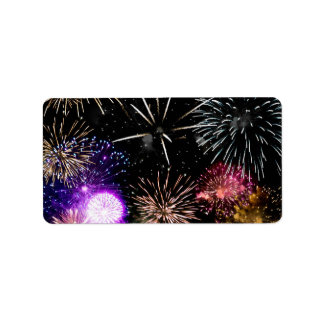 Fireworks Address Label