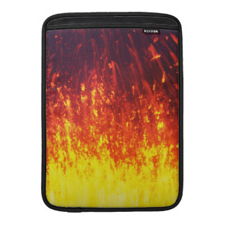 Fireworks lava in crater eruption volcano sleeve for MacBook air