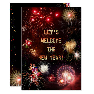 Fireworks: Let's welcome the New Year! Card