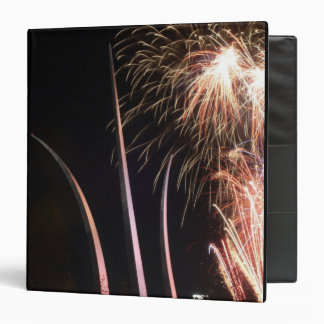 Fireworks light up the Air Force Memorial 3 Ring Binder